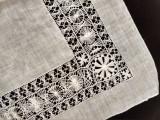 Antique Hankie Handkerchief Drawnwork Tenerife Lace  Linen Wedding