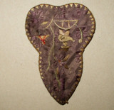 Antique Edwardian  Embroidery Sewing Scissors Case With Scissors