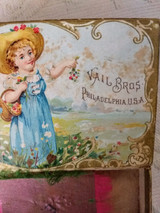 Vail Bros Little Folks Perume Gift Box Victorian Girl Antique Early 1900's