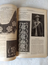 1922 Crochet Craft Book Patterns Directions Household Linens Clothing Embellishments