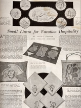 4 Vintage 1930s Home Art Needlecraft Magazines Fashion Needlework Ads