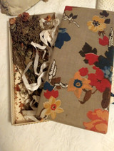 1920 Floral Fabric Covered Storage Gift Box Sentimental Dried Bouquet