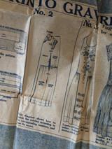 McCall Dress Pattern Printo Gravure 1921 Original #3666 Size 18 Sewing
