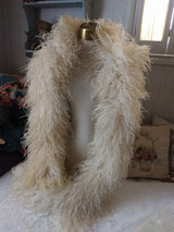 Edwardian 1920 Boa White Ostrich Feather Antique Vintage Shawl Costume