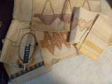 Vintage 1930's Swedish Weaving Embroidery Towels Projects WPA Stamp Lot 7