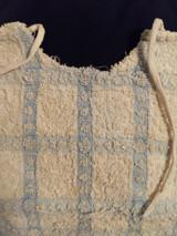 Good Boy Blue White Terry Cloth Toweling Bib Vintage 1900s Edwardian