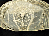 Antique Early 19th Century  Whitework Embroidery Baby Bonnet