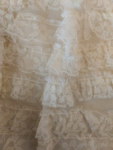Child Girl Dress 1950 Nylon Old Store Stock Tags White Lace Ruffles Wearable Costume Size 10