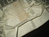 Victorian Bed Toss Pillow Cover Hand Crochet Filet Trim 1900 Edwardian Cotton Unused