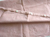 Tick Cover Pillowcase Set  Antique Victorian 1900 Red White Cotton Check