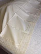 Victorian 1900s Bolster Pillow Top Bobbin Lace Trim Antique Victorian Cotton Layover Cover