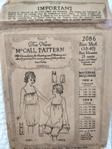 1920 McCall Cami Kickers Lingerie Pattern Underwear  Original Sewing