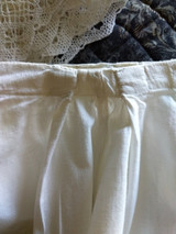 Victorian Pantaloons White Cotton Lace Bloomers  Vintage Undergarment