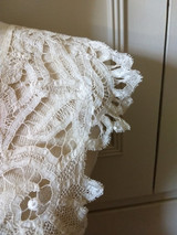 Victorian Tape Lace Battenburg dress Collar Flower Design