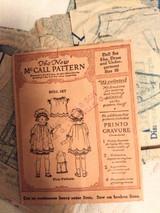 Antique McCall Doll Pattern Dress Bonnet Underwear Vintage 1921