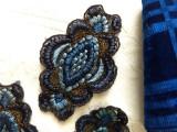 6 1920s  Applique Embroidery Thread Metallic Gold Dress Embellishment Laces