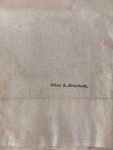 Antique 1861 Pillowcase Lace Mementos Family Provenance  Keepsakes