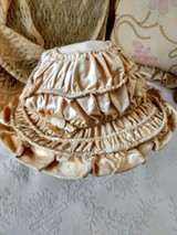 Antique Hat Edwardian Children Girl Youth Plush Velvet  Brim