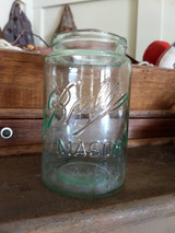 Old Fruit Jar Ball Mason Pint With Metal Canning Lid Lamp Adapter 1900 1910