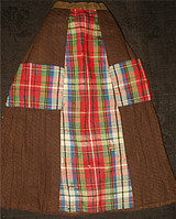 Brown Plaid 1880 Victorian Bisque Doll Walking Skirt