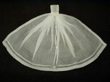 Antique Victorian Edwardian Drawn and Hemstitched White Batiste Jabot Collar