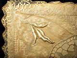 Vintage 1920s Silk Lingerie Handkerchief  Hanky Case Mixed Lace Cover