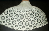 Antique Victorian Children White Cutwork Cape Collar