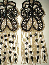 Antique Edwardian 1920's French Beaded  Dress Embellishment Trim