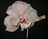 Vintage Made In Germany Vintage Millinery Hat Dress Fabric Flower
