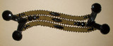 Antique Early 1900s Beaded Suede Dress Embellishment Trim