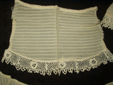 Vintage Late Edwardian 1920 Silk Chiffon Irish Crochet Collar and Cuffs