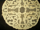 Antique Vintage Machine Alencon Lace Table Doily