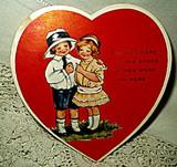 Vintage 1920's  1930's Secret Admirer Paper Valentine Heart Card