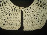 Vintage 1940 Hand Crochet Lace Dress Collar