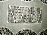 Lovely Victorian Edwardian Tenerife and Drawnwork Lace Linen Oval Doily