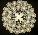 Victorian or Edwardian Tenerife Lace Hand Made Antique Vintage Doily