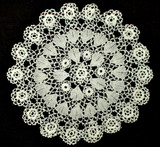 Vintage 1920's Irish Crochet Lace Table  Doily Round Mat