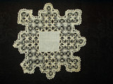Victorian Fine Hand Drawnwork Linen Center Table Doily Mat