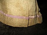Antique Victorian 1860 Bustle Back Handstitched Linen Doll Skirt