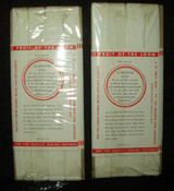 2 Vintage Fruit Of The Loom White Twill Tape Sewing Notion Packet