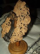 The Civil War ~ Victorian Wire Framed Bonnet Or Hat