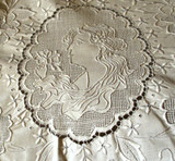 Fine Victorian Edwardian Hand Made Needle Work Table Bed Linens ~ A Daughter's Trousseau