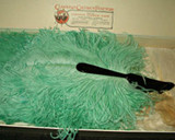 Amazing Collectibles Still To Be Found ~  A 1900's Cawston Ostrich Farm Aqua Folding Fan In Box