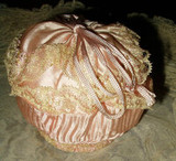 To Dazzle The Eye ~  A Flapper Era 1920s Silk Ribbon Rosette Powder Puff Purse