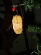 Vintage 1950 Cut Foam Watermelon Fruit Christmas Tree Ornament
