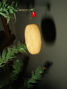 Vintage 1950 Cut Foam Watermelon Fruit Christmas Tree Ornament