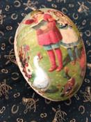 Antique Vintage 1920 German Paper Mache Easter Egg Children Animals Candy Container