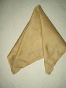 Vintage 1920 1930 Pongee Raw Silk Drawnwork Colored Thread Handkerchief Hankie