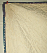 Antique 1900 Blue White Calico Patchwork Quilt Hand Stitch Hole In Barn Door Pattern