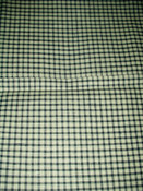 Early 1900s 1920s Blue And White Check Homespun Fabric Yardage